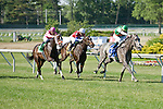 30 MAY 2010: Strike It Rich, Garrett Gomez up, leads the way in the stretch to win The Little Silver Stakes gate to wire.