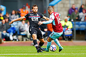 10th September 2017, Turf Moor, Burnley, England; EPL Premier League football, Burnley versus Crystal Palace; Steven Defour of Burnley and Yohan Cabaye of Crystal Palace battle for the ball