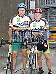 Paul and Ray Scanlon who took part in the Kevin King Memorial Cycle in aid of St John's Ambulance Brigade and Drogheda and District Support 4 Older People. Photo:Colin Bell/pressphotos.ie