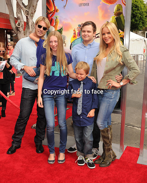 WESTWOOD, CA- SEPTEMBER 21: Actress/model Gena Lee Nolin and family arrive at the Los Angeles premiere of 'Cloudy With A Chance Of Meatballs 2' at the Regency Village Theatre on September 21, 2013 in Westwood, California.(Gena Lee Nolin)<br />