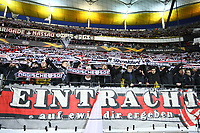 Fans von Eintracht Frankfurt in Europapokal-Stimmung - 07.03.2019: Eintracht Frankfurt vs. Inter Mailand, UEFA Europa League, Achtelfinale, Commerzbank Arena, DISCLAIMER: DFL regulations prohibit any use of photographs as image sequences and/or quasi-video.