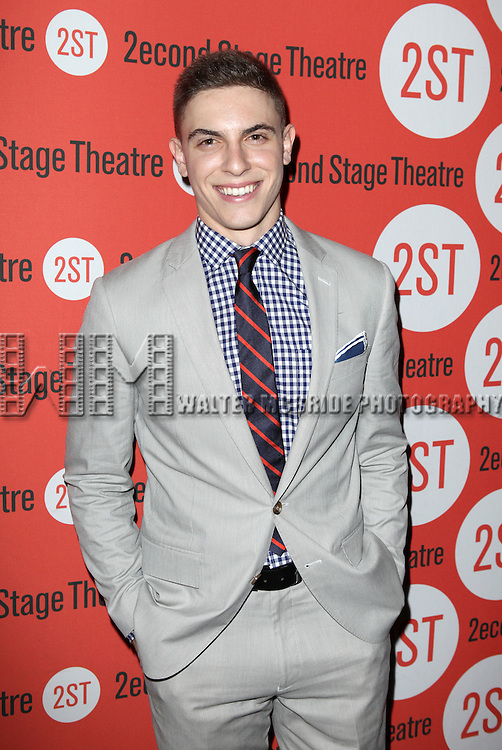 Derek Klena  .attending the after Party for Off-Broadway Opening Night Performance of Second Stage Theatre's 'Dogfight' at HB Burger in New York City.