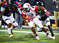 Baltimore, MD - OCT 14, 2017: Richmond Spiders running back Jay Palmer (27) runs the ball during game between Towson and Richmond at Johnny Unitas Stadium in Baltimore, MD. The Spiders defeated the Tigers 23-3. (Photo by Phil Peters/Media Images International)
