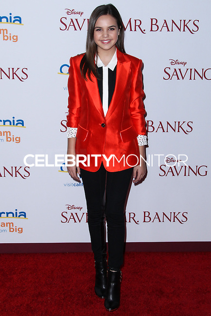"BURBANK, CA - DECEMBER 09: Bailee Madison arriving at the U.S. Premiere Of Disney's ""Saving Mr. Banks"" held at Walt Disney Studios on December 9, 2013 in Burbank, California. (Photo by Xavier Collin/Celebrity Monitor)"