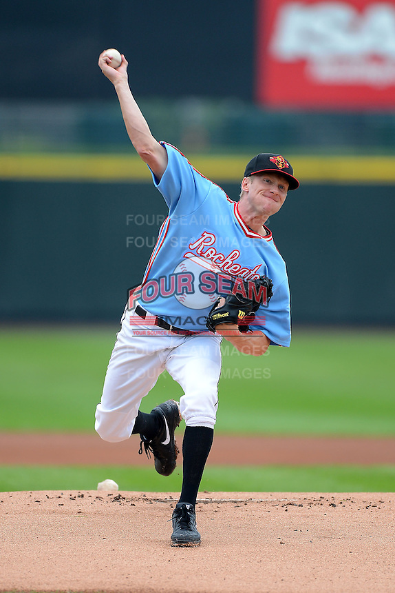 Rochester Red Wings starting pitcher Cole DeVries #39 during a game against the Gwinnett Braves on June 16, 2013 at Frontier Field in Rochester, New York.  Rochester defeated Gwinnett 6-3.  (Mike Janes/Four Seam Images)