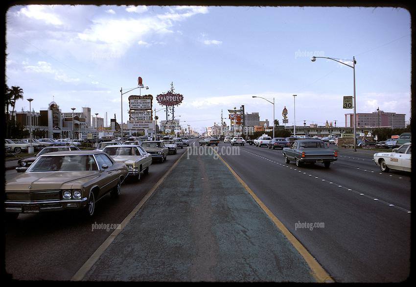 Las Vegas Strip, Silver Slipper in the view, July 1973