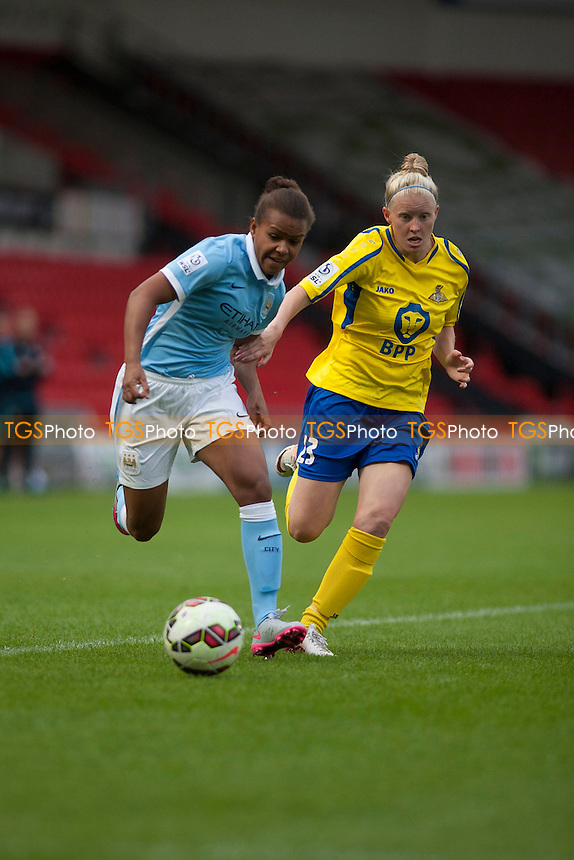 Nikita Parris (Man City Women)<br /> Doncaster Rovers Belles vs Manchester City Women, FA Womens Super League Continental Tyres Cup Football at the Keepmoat Stadium, Stadium Way, Doncaster, West Riding of Yorkshire on 23/07/2015 - MANDATORY CREDIT: Mark Hodsman/TGSPHOTO