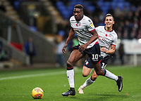 Bolton Wanderers' Sammy Ameobi breaks with Pawel Olkowski in support<br /> <br /> Photographer Andrew Kearns/CameraSport<br /> <br /> The EFL Sky Bet Championship - Bolton Wanderers v Swansea City - Saturday 10th November 2018 - University of Bolton Stadium - Bolton<br /> <br /> World Copyright © 2018 CameraSport. All rights reserved. 43 Linden Ave. Countesthorpe. Leicester. England. LE8 5PG - Tel: +44 (0) 116 277 4147 - admin@camerasport.com - www.camerasport.com