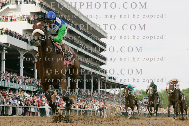 06 May 2006: Barbaro (8)with Edgar Prado up, wins the 132nd. running of the 2006 Kentucky Derby at Churchill Downs, Saturday , May 6, 2006. Photo By Gary I. Rothstein/EQUI-PHOTO