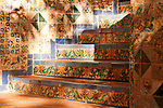 Tiled steps at the Sorolla Museum in Madrid, Spain