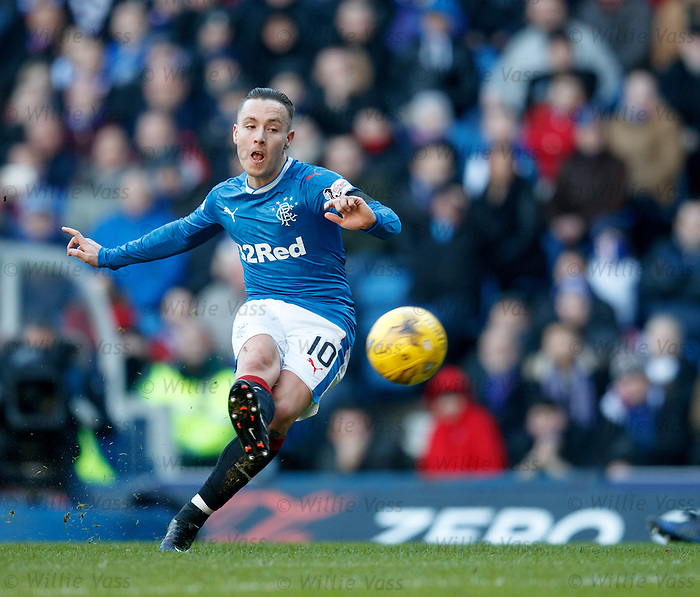 Barrie McKay blasts in a free-kick