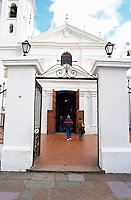 Entrance to Basilica de Nuestra Senora del Pilar church in the Recoleta district. Buenos Aires Argentina, South America