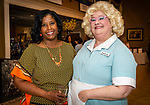 WATERBURY, CT. 13 April 2018-041318BS18 - From left, Dr. Marcia Tejeda and Earlene Babcock enjoy themselves at the 27th Annual (TGIF) Thanks God I'm Female Women Wellness Forum put on by Waterbury Hospital at La Bella Vista on Friday evening. Bill Shettle Republican-American