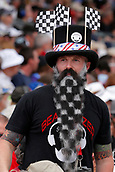 May 28th Indianapolis Speedway, Indiana, USA;  A Indy Car Fan shows his support during the 101st running of the Indianapolis 500 on May 28, 2017, at the Indianapolis Motor Speedway in Indianapolis, Indiana.