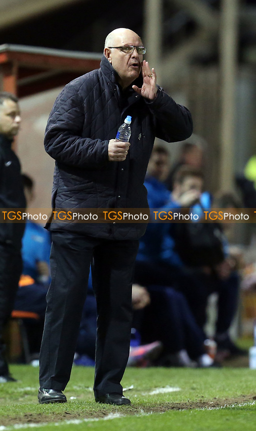 Dagenham and Redbridge manager John Still during Lincoln City vs Dagenham & Redbridge, Vanarama National League Football at the Gelder Group Sincil Bank Stadium on 3rd April 2017