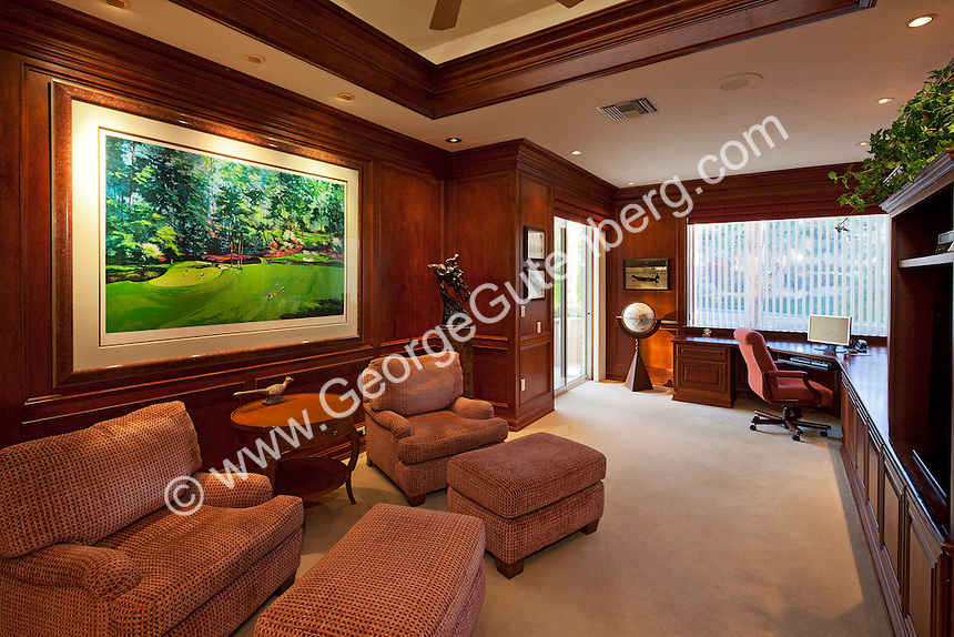 luxurious home office. Luxurious Home Office Features Wood Panelled Walls P