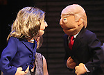 "attends the ""Avenue Q"" Hosts Town Hall With A Debate Between Puppets Hillary Clinton, ""I'm with Fur"" played by Maggie Lakis & Donald Trump, ""Make Puppets Great Again"" played by Rob McClure at the New World Stages on September 26, 2016 in New York City."