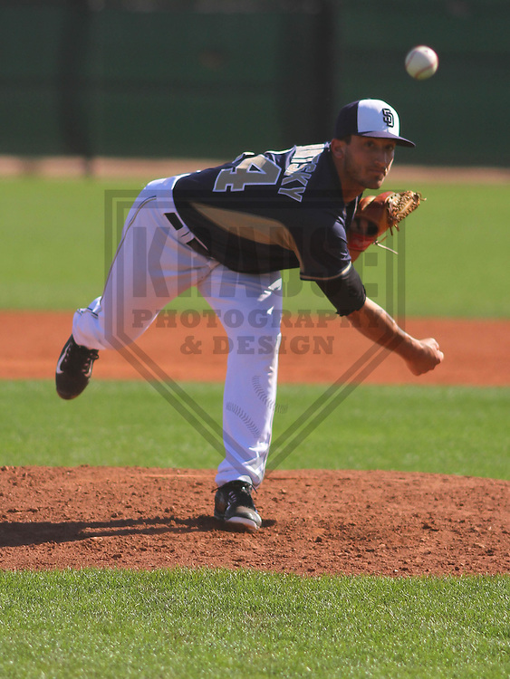 GOODYEAR - March 2015: Bryan Verbitsky of the San Diego Padres during a minor league spring training game against the Cincinnati Reds on March 21st, 2015 at Goodyear Baseball Complex in Goodyear, Arizona. (Photo Credit: Brad Krause)