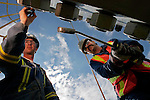 Contracted workers assist in building CNRL's new Primrose North facility, near Bonnyville, Alberta on Tuesday, August 9, 2005. John Ulan/Epic Photography
