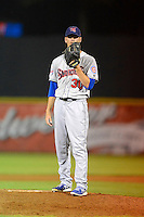 Tennessee Smokies pitcher A.J. Morris #30 during a game against the Huntsville Stars on April 16, 2013 at Joe W Davis Municipal Stadium in Huntsville, Alabama.  Tennessee defeated Huntsville 4-3.  (Mike Janes/Four Seam Images)