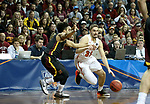 SIOUX FALLS, SD - MARCH 24: Peter Firlik #32 from Ferris State drives against Ian Smith #0 from Northern State during their game at the 2018 Men's NCAA DII National Championship at the Sanford Pentagon in Sioux Falls, SD. (Photo by Dave Eggen/Inertia)