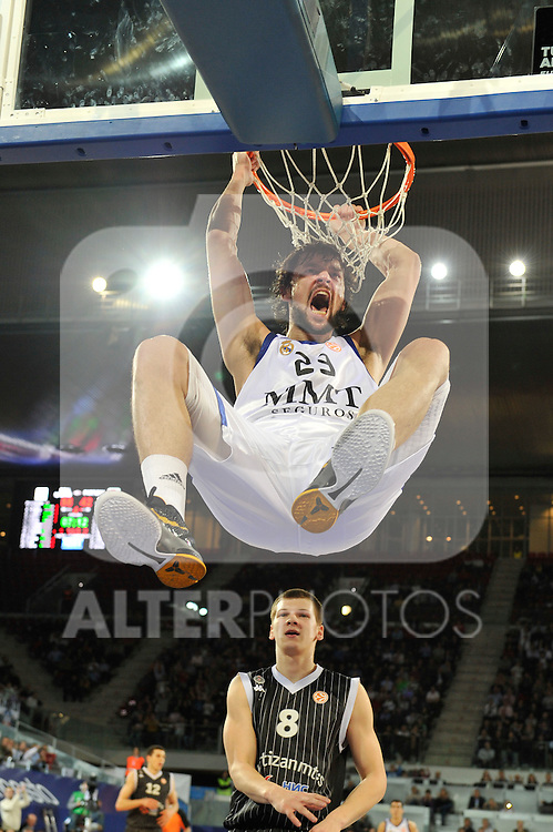 MADRID, Spain (19/01/11). Euroliga de baloncesto. Partido 1 del top 16, grupo G. Euroleague Basketball, Game 1 Top 16, Group G. Real Madrid vs Partizan MT:S..Sergio Llull...©Raul Perez .