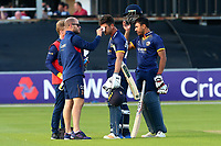 Ryan ten Doeschate of Essex receives treatment during Essex Eagles vs Somerset, NatWest T20 Blast Cricket at The Cloudfm County Ground on 13th July 2017