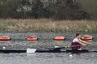 Caversham. Berkshire. UK<br /> Oliver MORGAN.<br /> 2016 GBRowing U23 Trials at the GBRowing Training base near Reading, Berkshire.<br /> <br /> Monday  11/04/2016 <br /> <br /> [Mandatory Credit; Peter SPURRIER/Intersport-images]