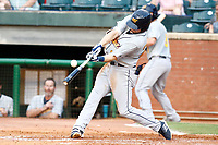 Montgomery Biscuit outfielder Ryan Boldt (23) hits the ball during the first inning of the game against the Chattanooga Lookouts on May 23, 2018 at AT&T Field in Chattanooga, Tennessee. (Andy Mitchell/Four Seam Images)