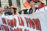 Roma, 14 Giugno 2012.Manifestazione della FIOM CGIL contro il ddl Fornero e la riforma del lavoro