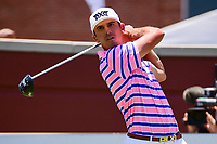 Billy Horschel (USA) watches his tee shot on 1 during the round 1 of the Dean &amp; Deluca Invitational, at The Colonial, Ft. Worth, Texas, USA. 5/25/2017.<br /> Picture: Golffile | Ken Murray<br /> <br /> <br /> All photo usage must carry mandatory copyright credit (&copy; Golffile | Ken Murray)