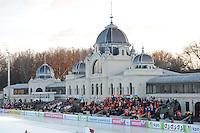 SCHAATSEN: BOEDAPEST: Essent ISU European Championships, 06-01-2012, Citypark Icerink Boedapest, Városligeti Müjégpálya, entreegebouw, ©foto Martin de Jong