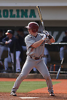 Boston College outfielder John Hennessy #10 at bat during a game against the University of Virginia Cavaliers at Watson Stadium at Vrooman Field on February 17, 2012 in Conway, SC.  Boston College defeated Virginia 5-3.  (Robert Gurganus/Four Seam Images)