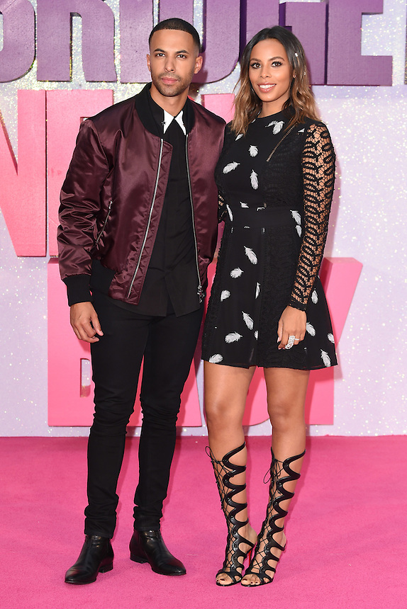 """Marvin and Rochelle Humes<br /> at the """"Bridget Jones's Baby"""" World premiere, Odeon Leicester Square , London.<br /> <br /> <br /> ©Ash Knotek  D3149  05/09/2016"""