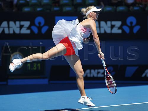 21 01 2011  Australian Open 2011 Melbourne Park ITF Grand Slam Tennis Tournament Caroline Wozniacki for women Tennis WTA Tour Grand Slam Australian Open Melbourne
