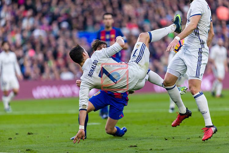 League Santander 2016/2017. Game: 14.<br /> FC Barcelona vs Real Madrid: 1-1.<br /> Cristisno Ronaldo.