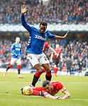 16.03.2019 Rangers v Kilmarnock: Lassana Coulibaly and Gary Dicker