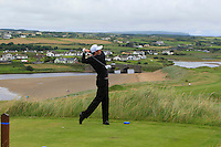 Robbie Cannon (Balbriggan) on the 9th tee during Matchplay Round 1 of the South of Ireland Amateur Open Championship at LaHinch Golf Club on Friday 22nd July 2016.<br /> Picture:  Golffile | Thos Caffrey<br /> <br /> All photos usage must carry mandatory copyright credit   (© Golffile | Thos Caffrey)