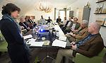 UTRECHT - Marieke van Rhijn, Joris Slooten, Gerard Jol, Pieter Aalders; Forumdiscussie Speelkwaliteit in de golfsport. FOTO KOEN SUYK