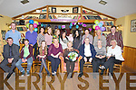 HAPPY BIRTHDAY: Rosarie O'Connor, Strand Road, Tralee enjoying a night out with her family and friends to celebrate her birthday in Stokers Lodge, Tralee on Monday evening. Front l-r: Sean, Bobby,Tracy and Sandra O'Keeffe, Rosarie O'Connor (birthday lady), John O'Connor, Esther Coffey and Joan O'Brien. Back l-r: Mike Moriarty, Ian Moss, Siobhan and Niamh Coffey, Deirdre Moss, Shannon, Hannah, Cara and Sheila Purcell, Mary.Horgan and Vincent Purcell.