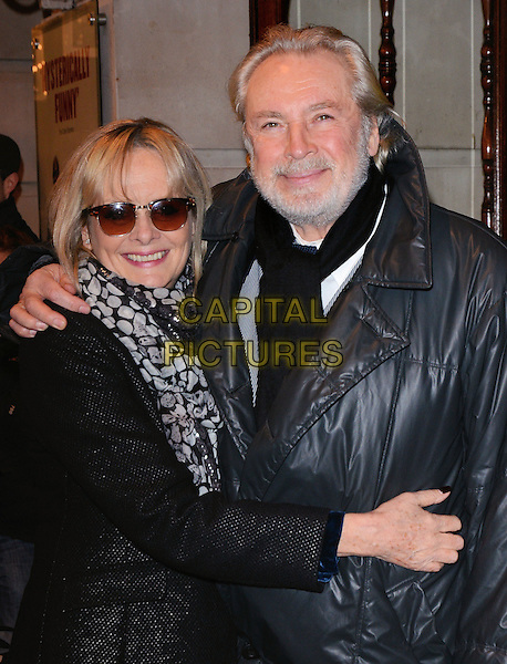 LONDON, ENGLAND - FEBRUARY 25: Twiggy and Leigh Lawson attends the &quot;The Full Monty&quot; press night, Noel Coward Theatre, St Martin's Lane, on Tuesday February 25, 2014 in London, England, UK.<br /> CAP/MB/PP<br /> &copy;Michael Ball/PP/Capital Pictures
