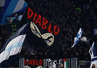 11th January 2020; Stadio Olympico, Rome, Italy; Serie A Football, Lazio versus Napoli; supporters of Lazio show their flags - Editorial Use