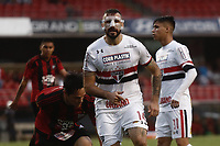 SÃO PAULO, SP, 18.03.2017 - SÃO PAULO-ITUANO- Lucas Pratto do São Paulo Futebol Clube durante partida contra o Ituano válida pela 9ª rodada do Campeonato Paulista 2017, no Estadio Cicero Pompeu de Toledo,  na tarde desta sábado, 18. (Foto: Adriana Spaca/Brazil Photo Press)