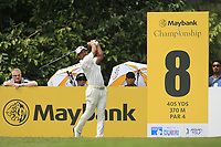 Yusaku Miyazato (JPN) in action on the 8th tee during Round 2 of the Maybank Championship at the Saujana Golf and Country Club in Kuala Lumpur on Friday 2nd February 2018.<br /> Picture:  Thos Caffrey / www.golffile.ie<br /> <br /> All photo usage must carry mandatory copyright credit (&copy; Golffile | Thos Caffrey)