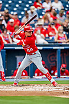 26 February 2019: St. Louis Cardinals infielder Ramon Urias at bat during a Spring Training game against the Washington Nationals at the Ballpark of the Palm Beaches in West Palm Beach, Florida. The Cardinals defeated the Nationals 6-1 in Grapefruit League play. Mandatory Credit: Ed Wolfstein Photo *** RAW (NEF) Image File Available ***