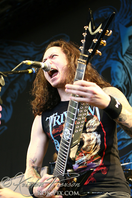 Trivium performing at Comcast Center in Mansfield, MA on July 27, 2007
