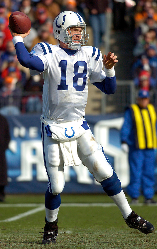Indianapolis Colts quarterback Peyton Manning vs the Titans during the 2006 NFL season.