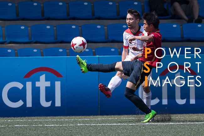 Yau Yee League Select (in white) vs Kashima Antlers (in red and black), during their Main Tournament Plate Quarter-Final match, part of the HKFC Citi Soccer Sevens 2017 on 28 May 2017 at the Hong Kong Football Club, Hong Kong, China. Photo by Chris Wong / Power Sport Images