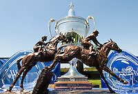 The trophy for the winner of the Queen's Cup Steeplechase in Mineral Springs, NC.