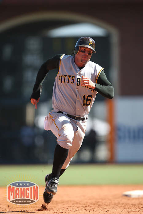 SAN FRANCISCO - SEPTEMBER 7:  Doug Mientkiewicz of the Pittsburgh Pirates runs the bases during the game against the San Francisco Giants at AT&T Park in San Francisco, California on September 7, 2008.  The Giants defeated the Pirates 11-6.  Photo by Brad Mangin